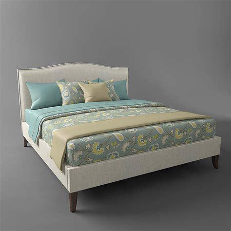 colette bed the bed colette king bed free vr ar low poly 3d model
