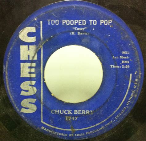 Chuck Berry Criminal Record 45 Chuck Berry Let It Rock Pooped To Pop Casey 7 Quot Vg