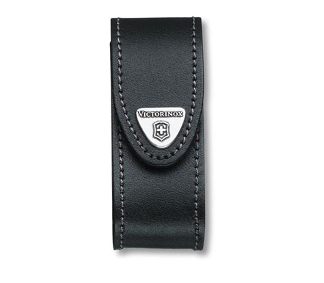 Swiss Army Free Leather 1 victorinox leather belt pouch black in black 4 0520 3