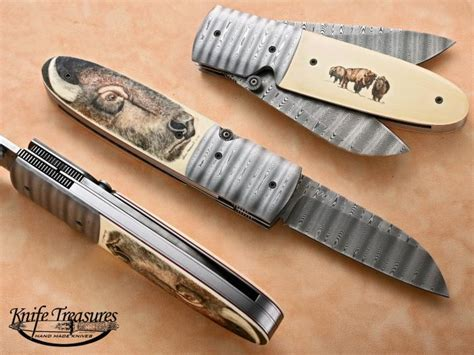 pattern lock maker custom knives hand made by kit carson for sale by knife
