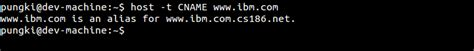 Cname Lookup Best All Options For Dns Lookup Using Linux Host Command