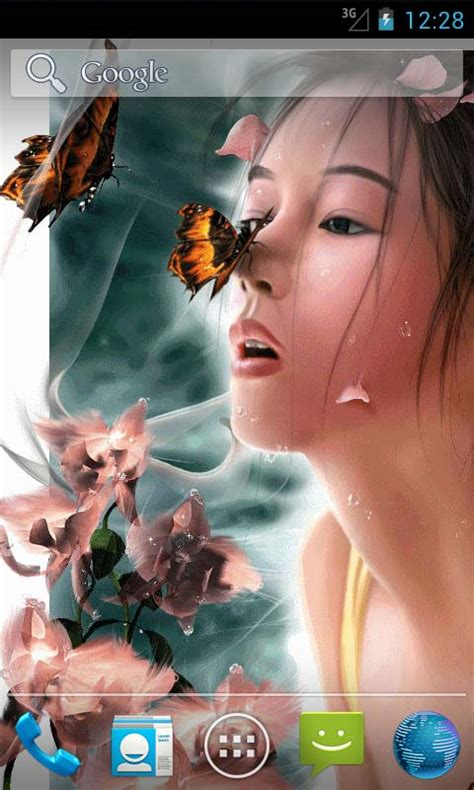 wallpaper girl for android girl and butterfly live wallpapers free apk android app