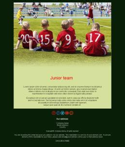 Newsletter Templates For Soccer Teams Mailpro Football Email Template