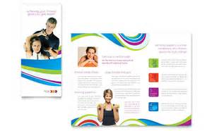 publisher brochure template personal trainer brochure template design