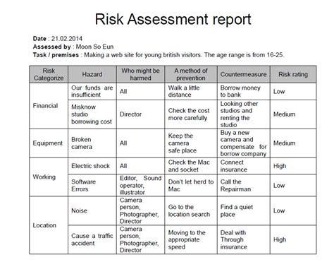 safety assessment report template risk assessment moon so eun