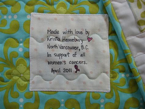 Quilt Label Wording by Quilt Label Sayings And Quotes Quotesgram