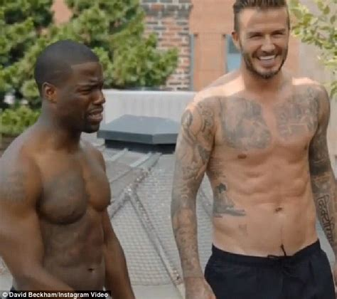 david beckham shows his ripped physique with kevin hart in h m daily mail