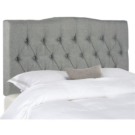 King Upholstered Headboard Safavieh Axel King Upholstered Headboard Reviews Wayfair