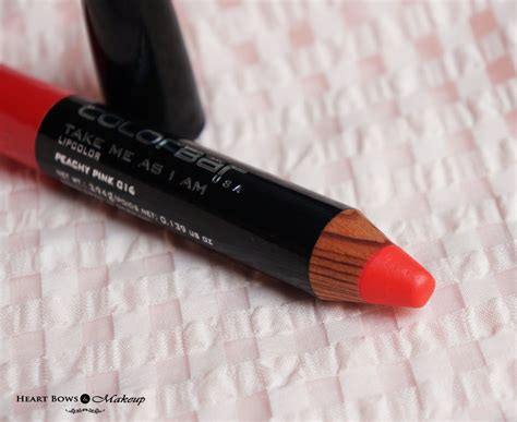 colorbar take me as i am lip color peachy pink review