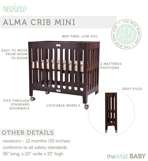 Baby Crib Specifications Bloom Alma Mini Crib Review The Wise Baby