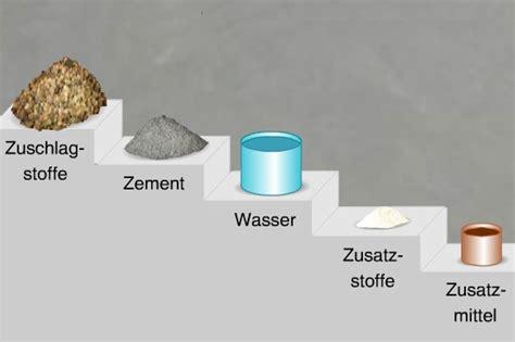baustoffkunde die basics beton cus - Beton Zutaten