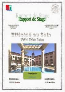 rapport de stage hotoliere rapport de stage itht