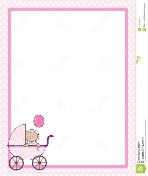 baby shower page borders baby border clipart