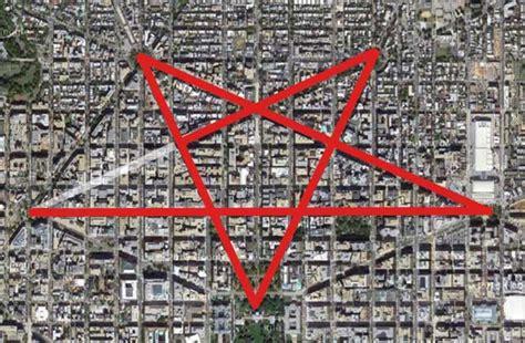 washington dc map pentagram streets of washington dc pentagram illuminati symbols