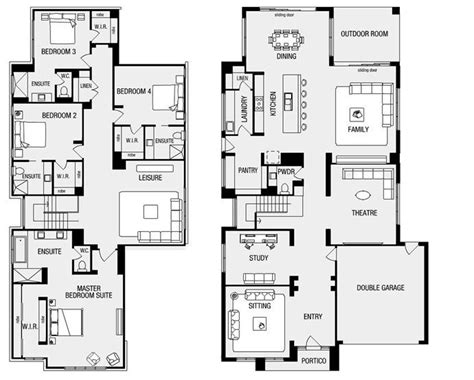 metricon floor plans single storey single story house plans with butler pantry home deco plans