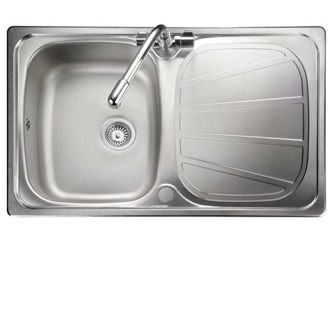 Compact Kitchen Sinks Stainless Steel Rangemaster Baltimore Compact Bl8001 Stainless Steel Sink Kitchen Sinks Taps
