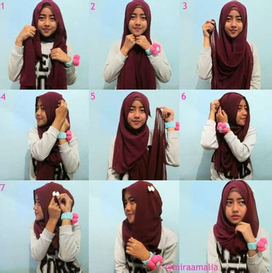 tutorial hijab simple casual 2015 tutorial hijab modern simple casual dan minimalis terbaru 2016