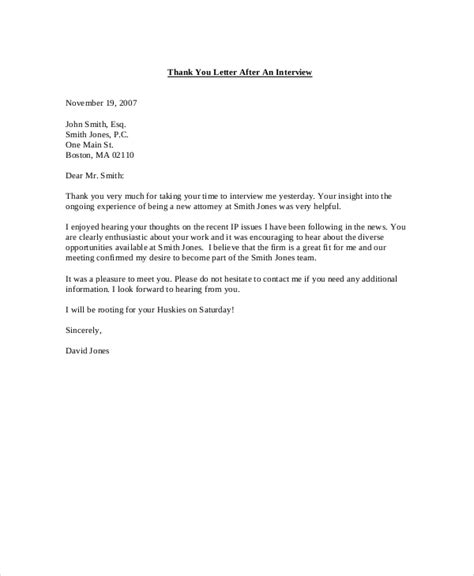 brilliant ideas of thank you letter after interview and job