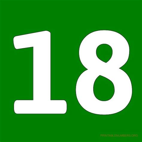 number 18 template numbers 1 50 image new calendar template site