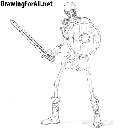 doodle how to make warrior how to draw a skeleton warrior drawingforall net