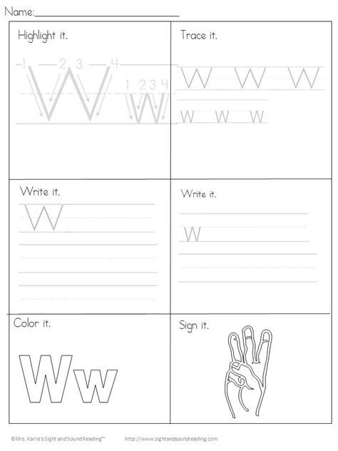 Kindergarten Transfer Letter Beginning Letter Sound Worksheets The Letter W Letter W Letters And Letter Sounds