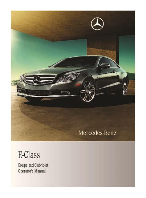 car repair manuals download 2011 mercedes benz c class auto manual 2011 mercedes benz e350 e350 bluetec e550 w212 c207 coupe owners manual