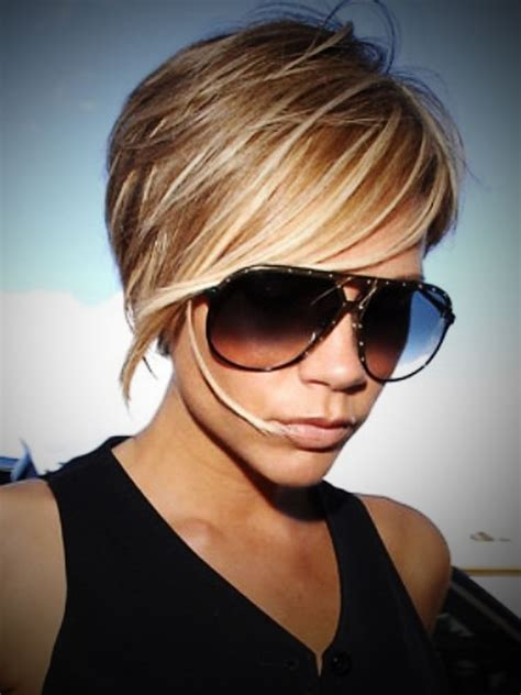 chunking or highlighting short brown hairstyle pictures of short brown hair with blonde highlights