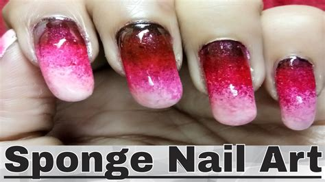 easy nail art sponge quick and easy nail polish designs with sponge gradient