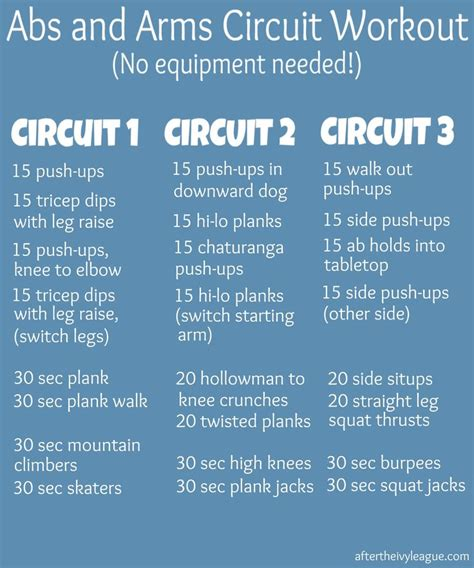 abs and arms circuit workout at the