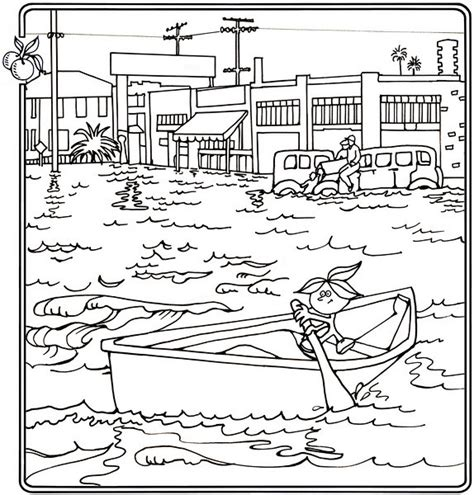 the great flood page coloring pages