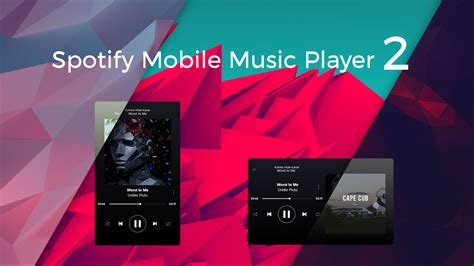 spotify mobile player spotify mobile player v2 01 by craftaa on deviantart