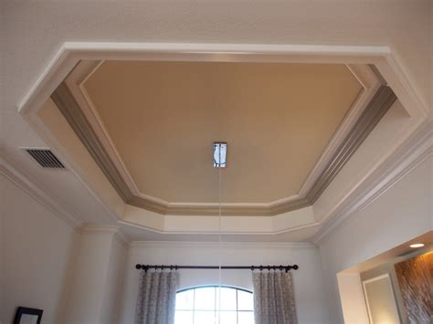 dining room tray ceiling tray ceiling room design modern