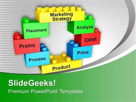 marketing powerpoint presentation templates strategy marketing strategy on building blocks ppt