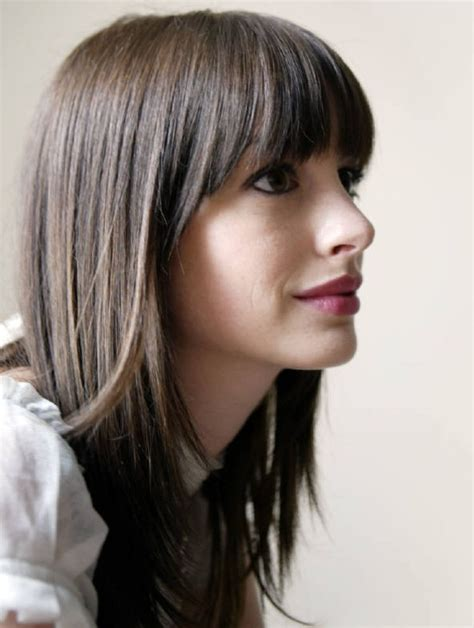 Hairstyles For Hair With Bangs by Across Bangs With Hair And Hair