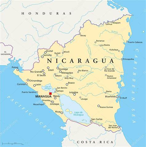 imagenes satelitales nicaragua mapa pol 237 tico de nicaragua archivo im 225 genes vectoriales