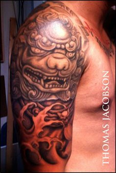 komainu tattoo design komainu search yokai