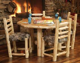 Log Dining Room Sets Custom Log Dining Room Tables Diner With Upholstered Seat Rustic Furniture Mall By