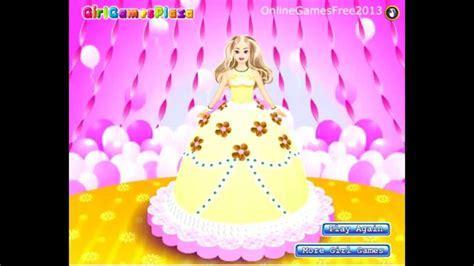 Barbie Cake Decorations Games   Free Barbie Cake