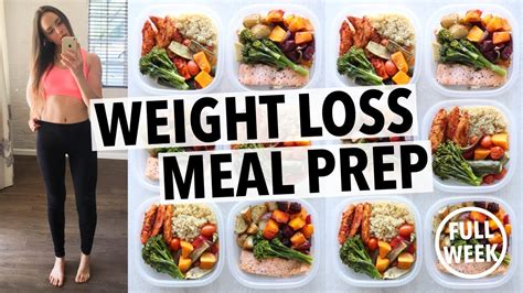 5 weight loss meals weight loss meal prep for 1 week in 1 hour by