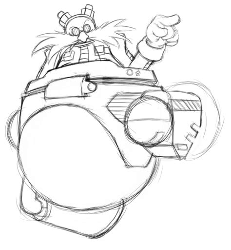 Dr Eggman Coloring Pages dr egg colouring pages