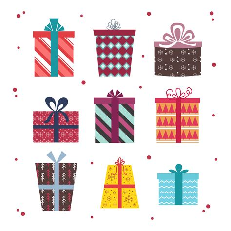 christmas gift boxes vector set   vectors