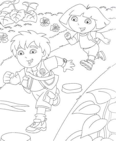 free coloring pages dora and diego free printable diego coloring pages for kids