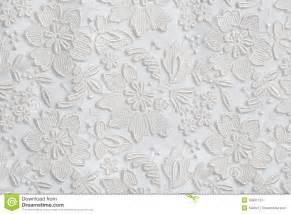 fond floral blanc de texture de dentelle photo libre de