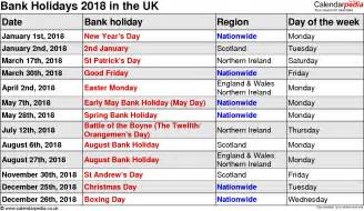 2018 Calendar Uk With Bank Holidays March 2018 Calendar With Holidays Uk Calendar Printable Free