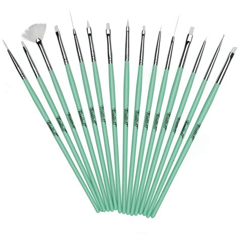 Nail Brushes by Twinkled T Mint Coco Nail 15 Pc Brush Set Twinkled T