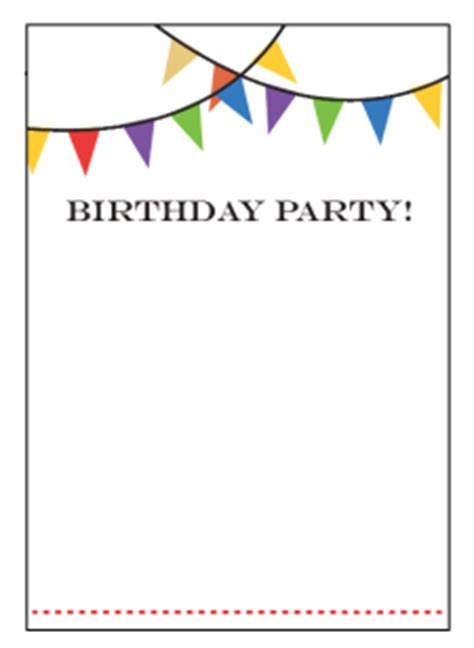 birthday invitation templates free printable birthday invitation templates free best template collection