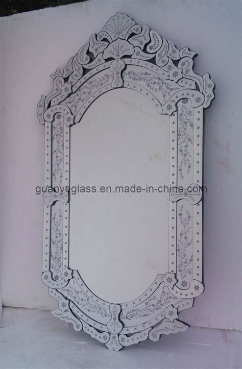 pattern mirror frame china venetian design wal mounted mirror with etching