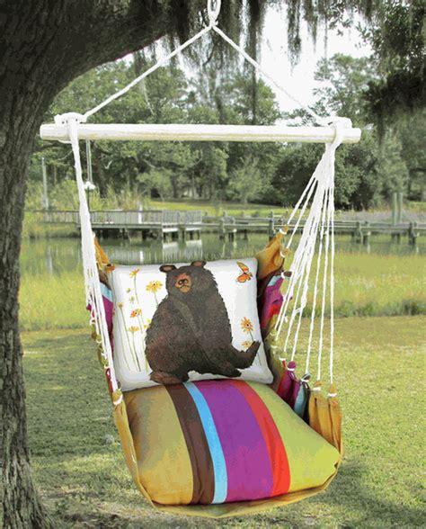bear swing black bear pillow swing