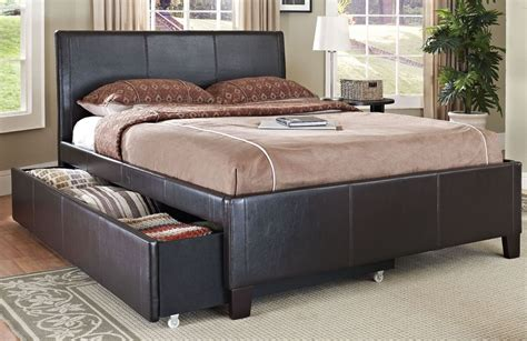 new york brown upholstered trundle bed 939 46 47