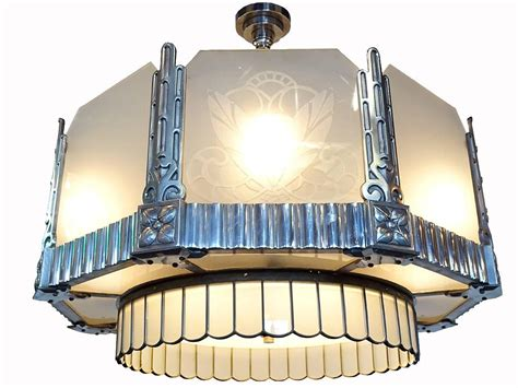 Matching Pendant Lights And Chandelier Deco Theater Chandelier And Matching Ceiling Fans At 1stdibs
